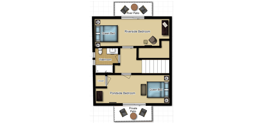 sweet water Sweet Water Cabin RIVER FRONT SECOND FLOOR FLOOR PLAN