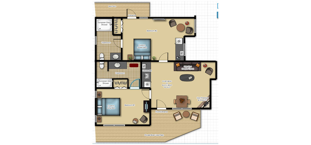 black bear Black Bear Villa RIVER VIEW FLOOR PLAN